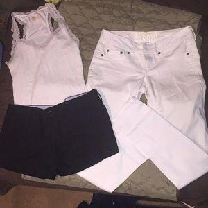 Bundle: SM tank top, pair of shorts and pants.SZ 3
